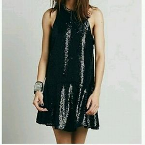 Sequined Free People Mini Dress